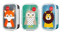 3-spouts-bento-snack-box-fox-owl-lion