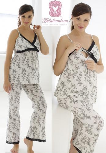 Belabumbum Jasmine Nursing Pajamas--Large (12) Only
