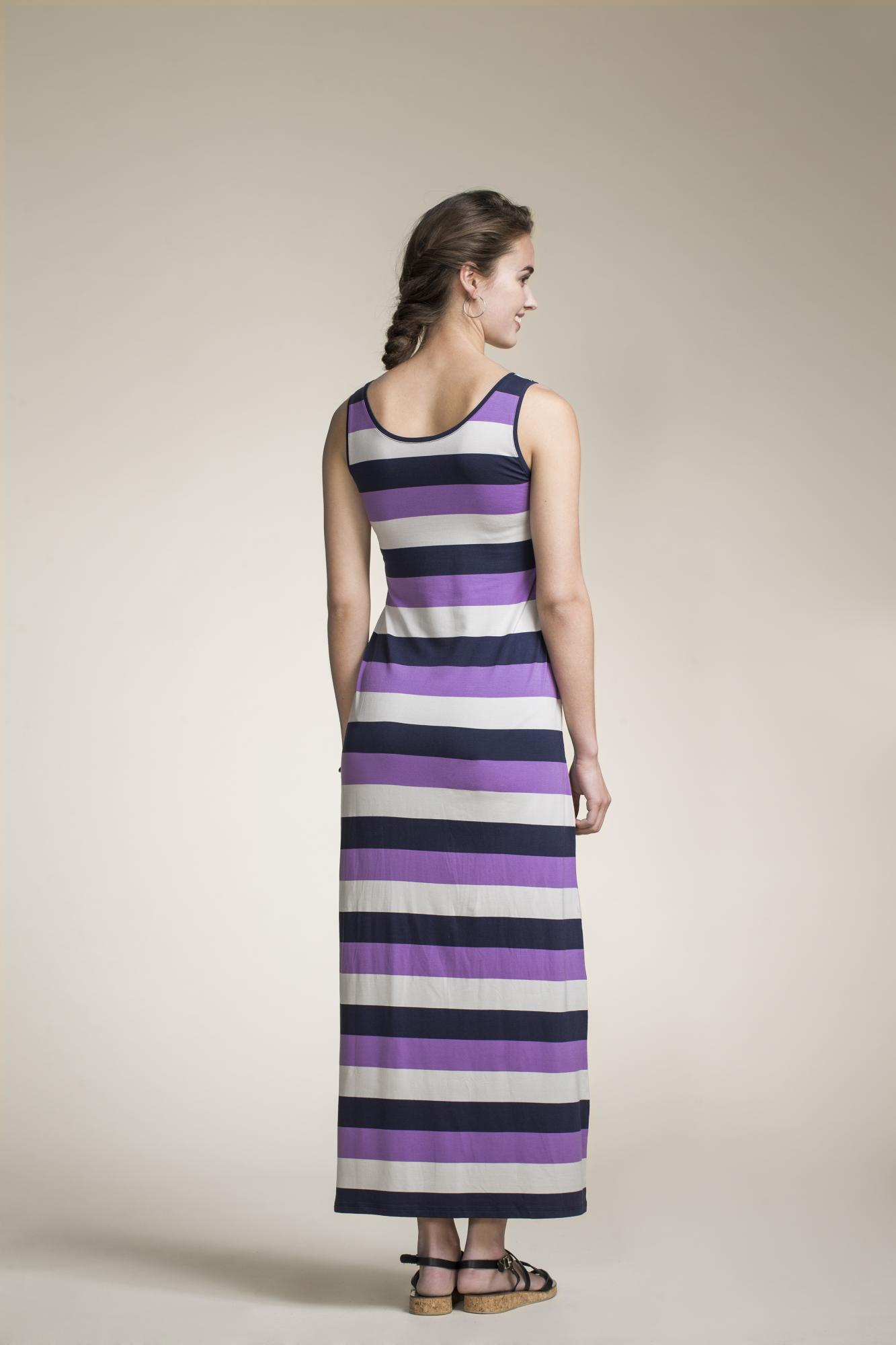 boob-design-long-nursing-dress-cameron-purple-stripe-back.jpg
