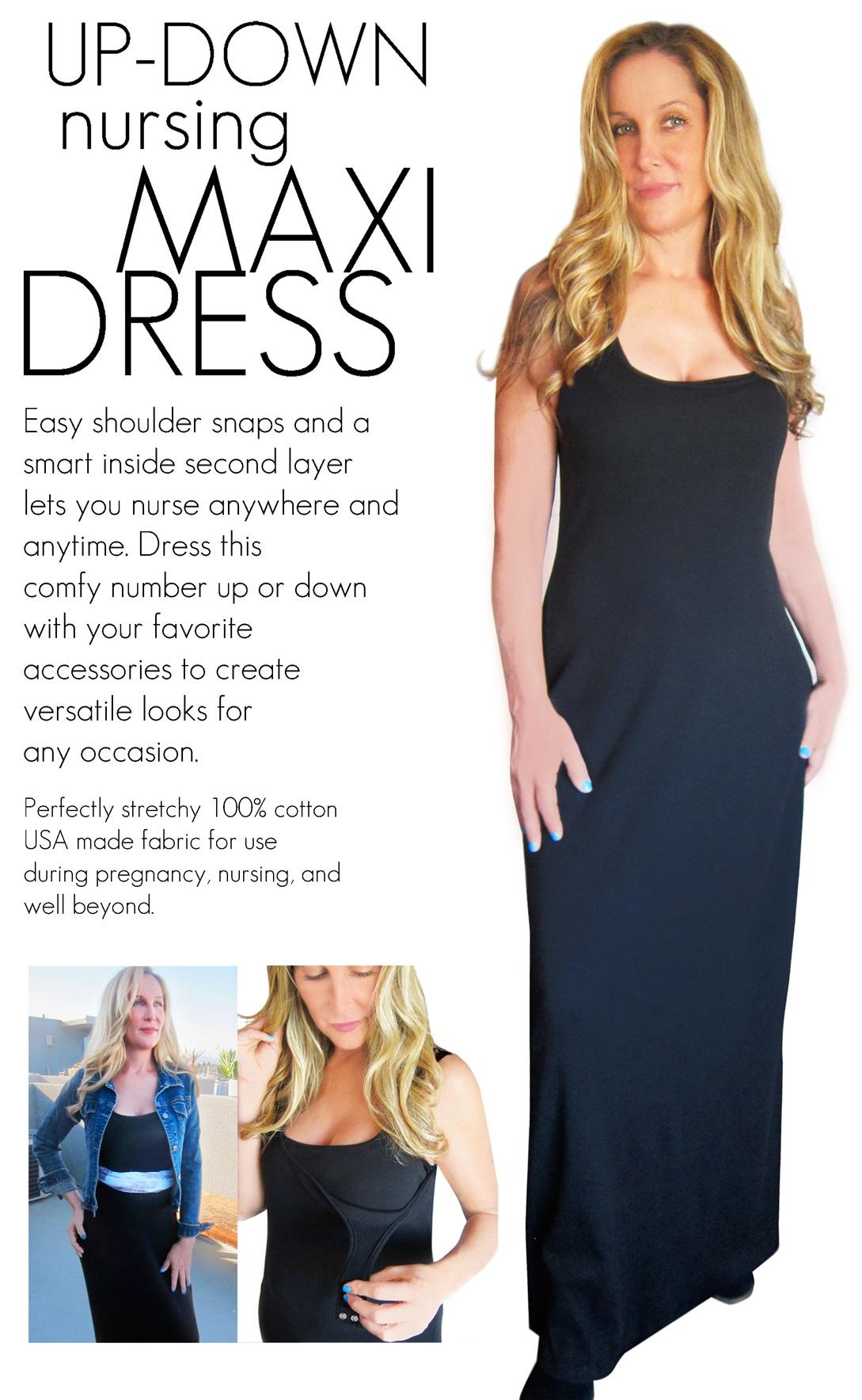 Bun Maternity/Nursing Maxi Dress