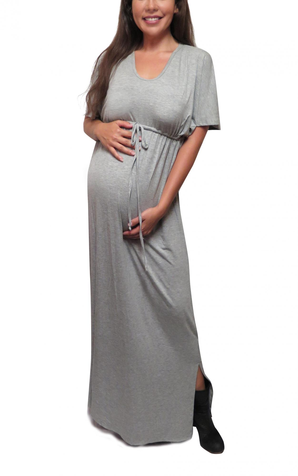 b05dc6c1223e9 Bun to Baby Kaftan Maxi Nursing Dress
