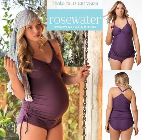 17456a8496 Shake Fuller Bust Maternity & Nursing Tankini swimsuit from Rosewater