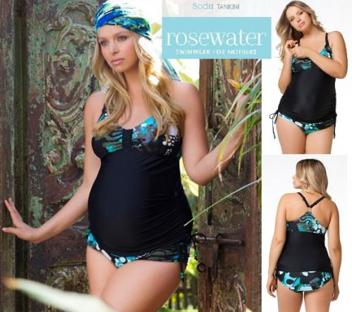 Soda Maternity & Nursing Tankini from Rosewater