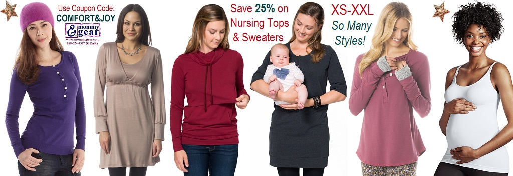 Save 25% off Nursing Tops & Sweaters