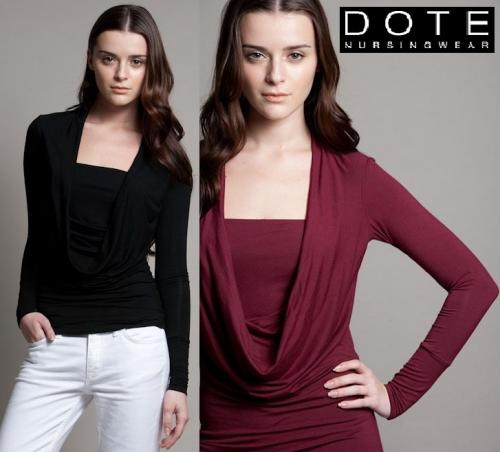 Dote Blake Cowl-Neck Nursing Top