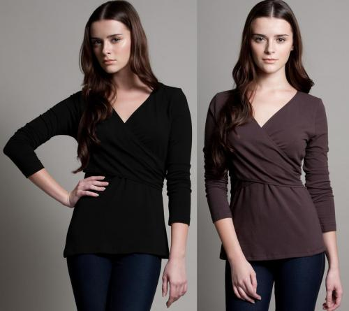 Dote Crossover Wrap Nursing Top