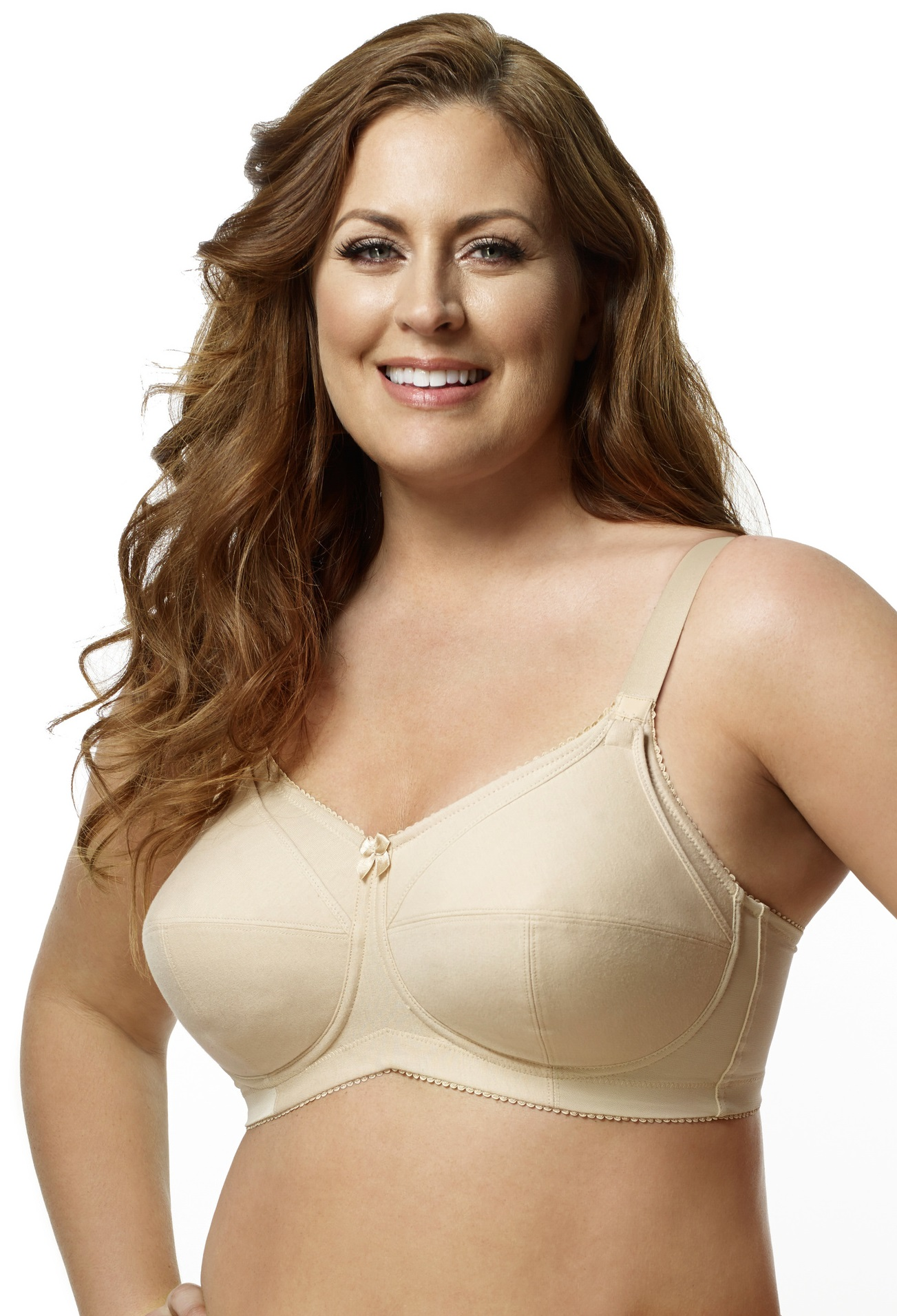 Elila Cotton Softcup Nursing Bra--Nude
