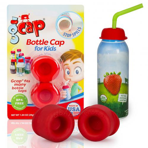 G-Cap Spill Proof, Straw Bottle Top Covers--2 Pack