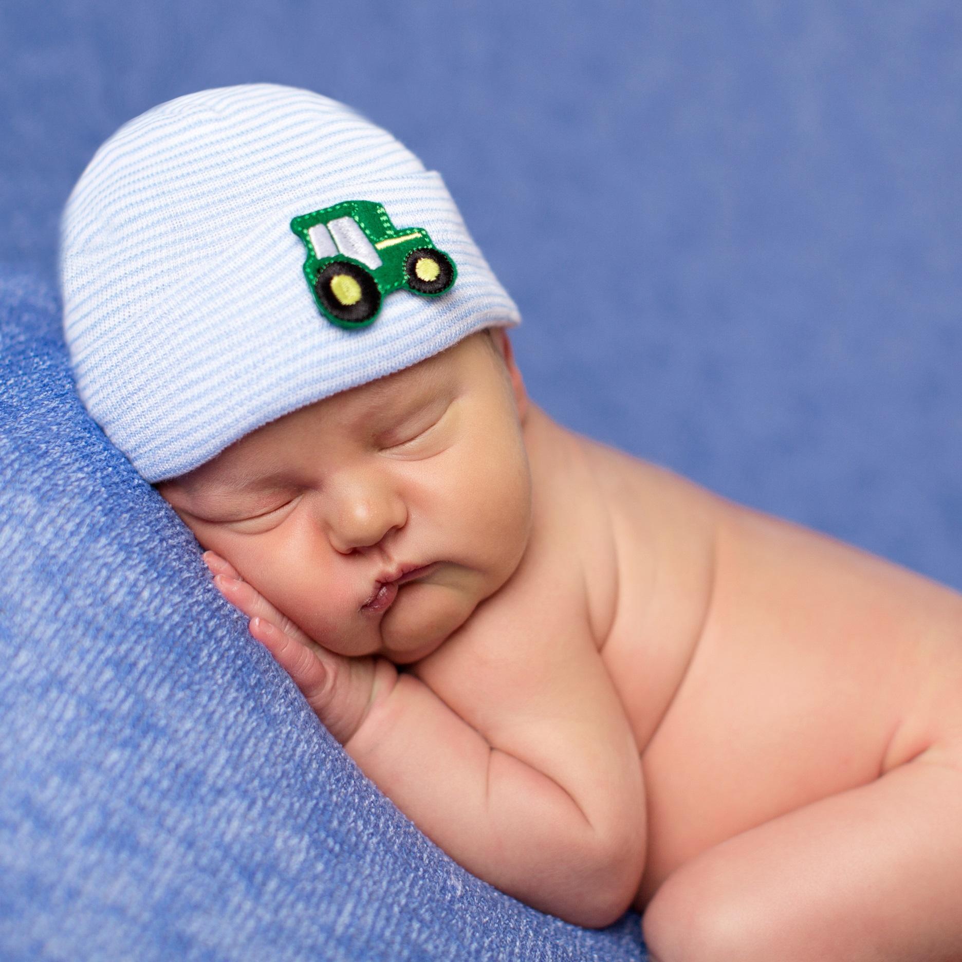 ilybean-newborn-hat-blue-striped-tractor.jpg