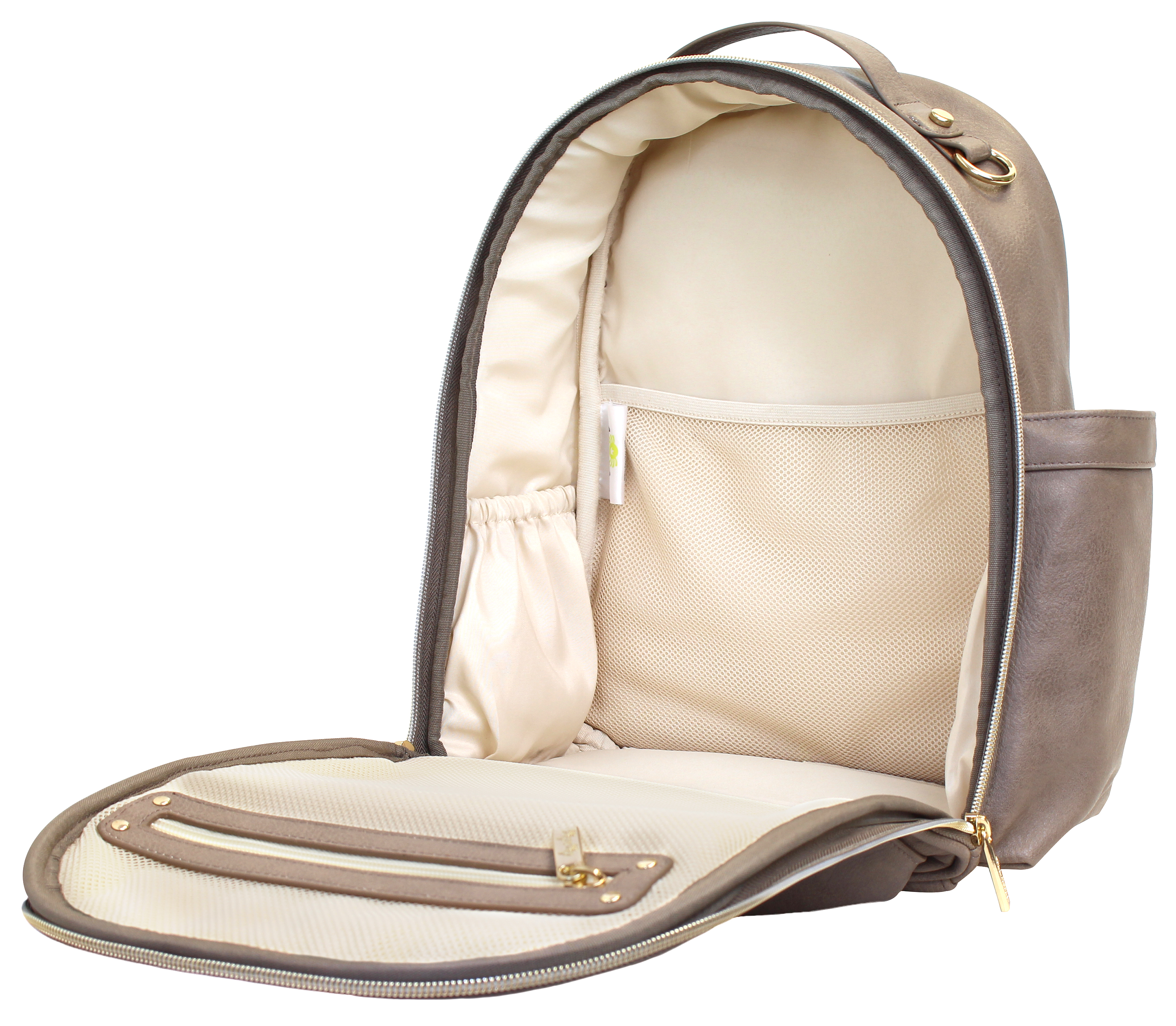 itzy-ritzy-mini-backpack-diaper-bag-taupe-interior
