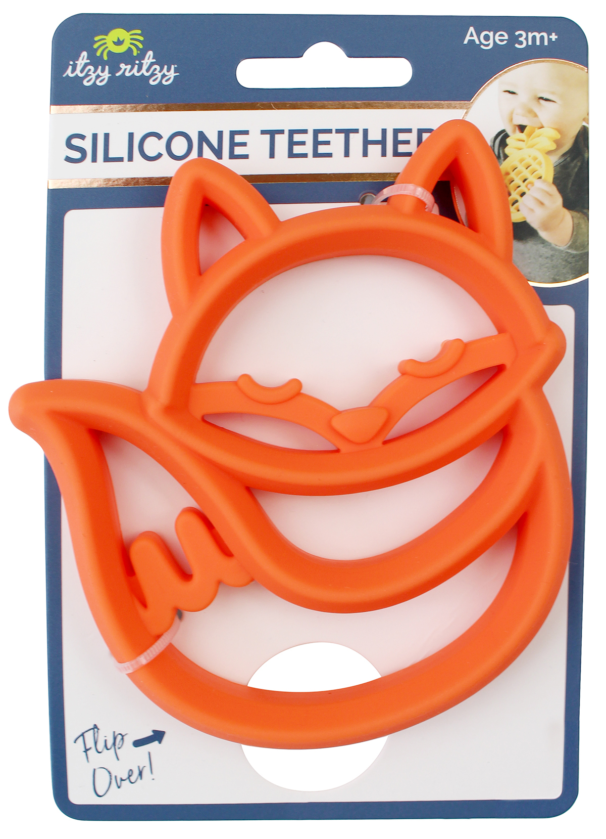 itzy-ritzy-silicone-teether-fox-2