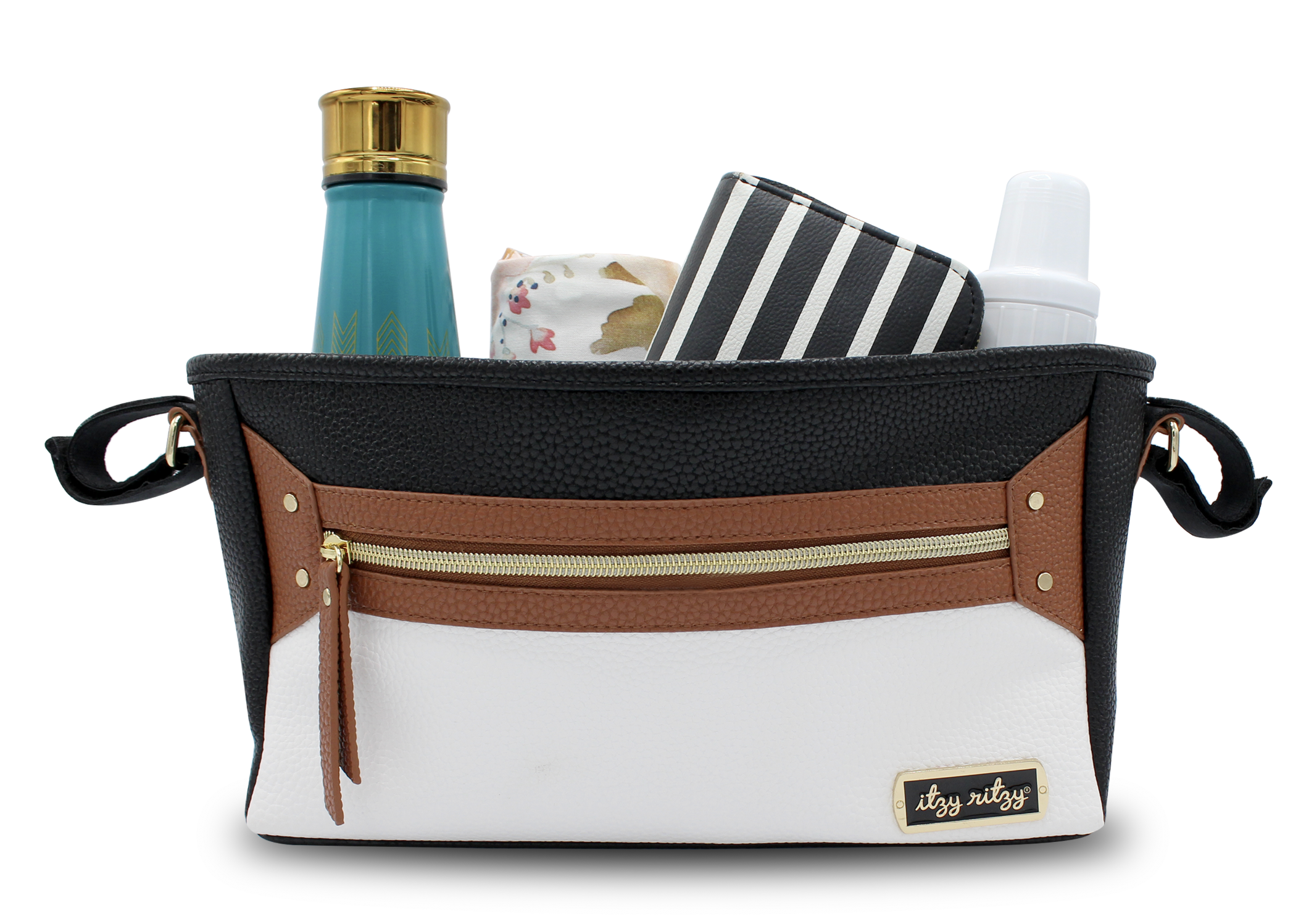 itzy-ritzy-stroller-caddy-coffee-and-cream-use