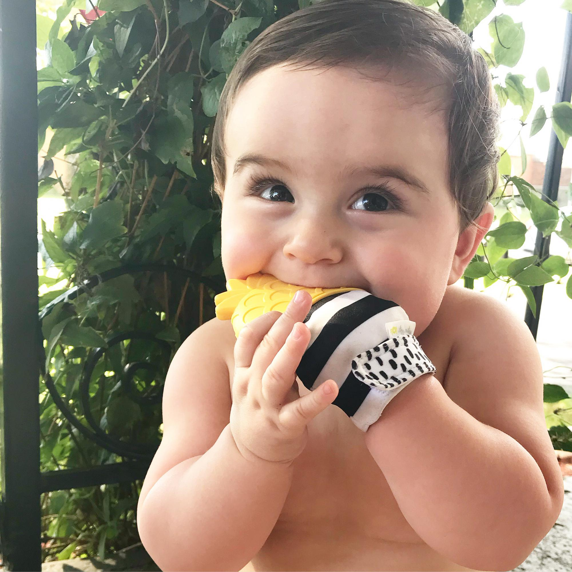 itzy-ritzy-teething-mitt-pineapple-baby.JPG
