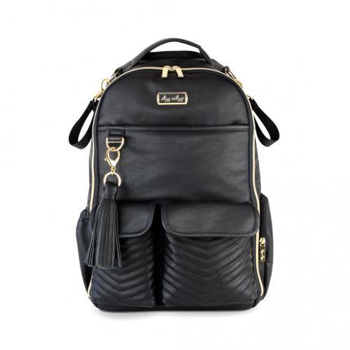 Itzy Ritzy Boss Diaper Bag Backpack - Jetsetter Black