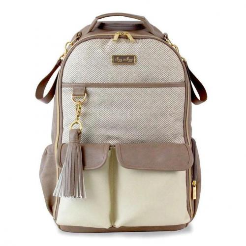 Itzy Ritzy Boss Diaper Bag Backpack - Vanilla Latte