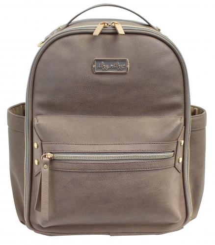 Itzy Ritzy Mini Backpack Diaper Bag - Taupe