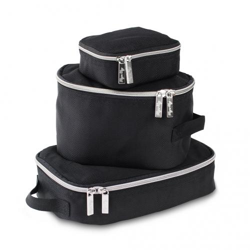 Itzy Ritzy Packing Cubes - Black with Silver