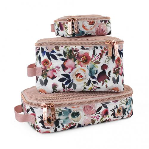 Itzy Ritzy Packing Cubes - Blush Floral