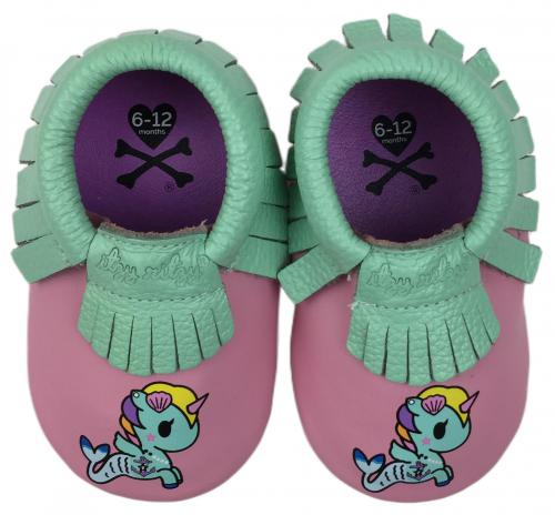 Itzy Ritzy + tokidoki Moc Happens Leather Baby Moccasins