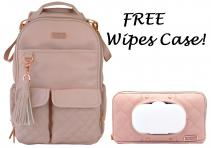 itzy-ritzy-boss-backpack-diaper-bag-blush-free-wipes-case