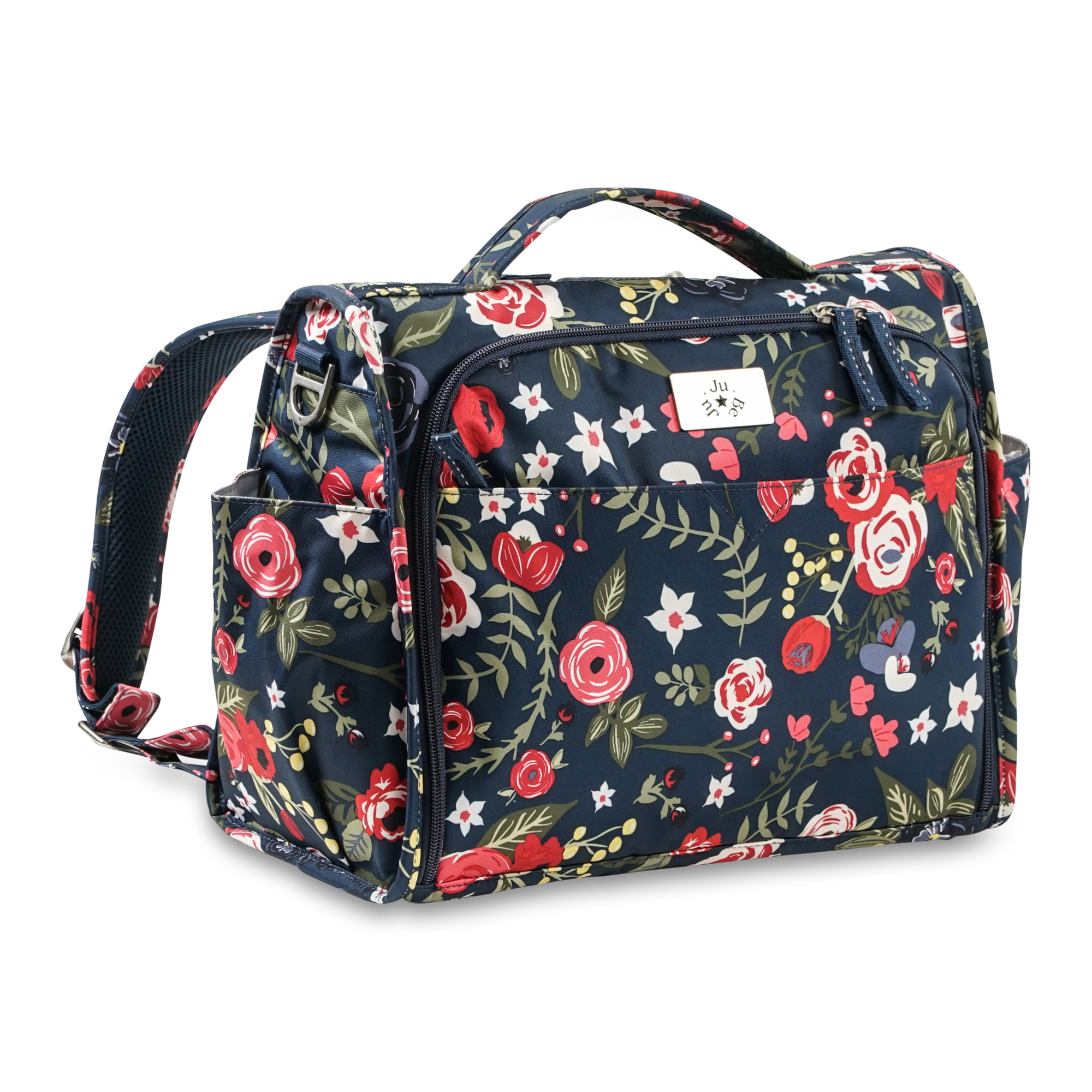 ju-ju-be-midnight-posy-classic-convertible-diaper-bag-2