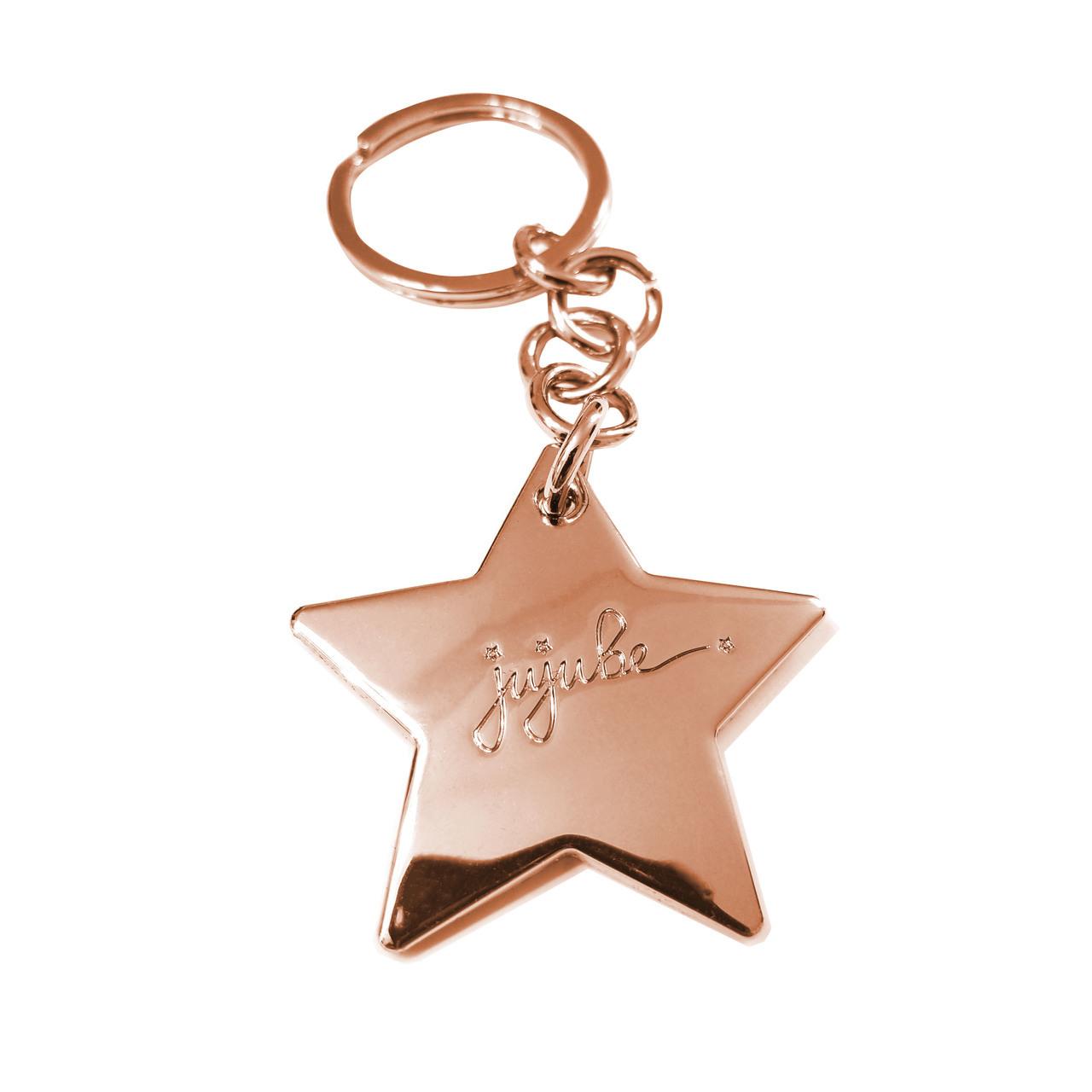 ju-ju-be-rose-gold-keychain