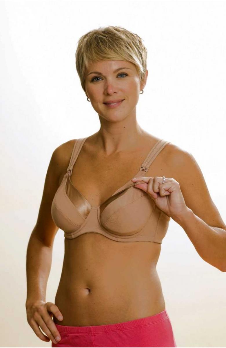 Busty satin bra has the