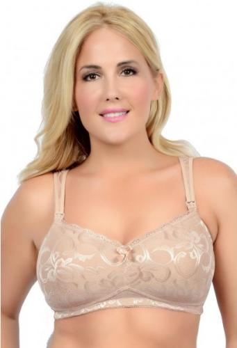 La Leche League Jacquard Contour Softcup Nursing Bra