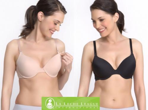6c7601736b369 La Leche League Seamless Underwire T-Shirt Nursing Bra
