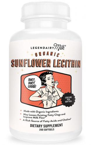 Legendairy Organic Sunflower Lecithin--200 Softgels
