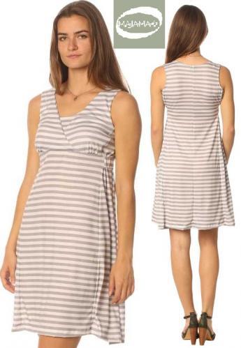 Majamas Ally Nursing Dress--Boardwalk Stripes