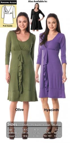 Majamas Spiral Nursing Dress