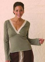 majamas-angel-food-nursing-top-olive-dots-model.jpg