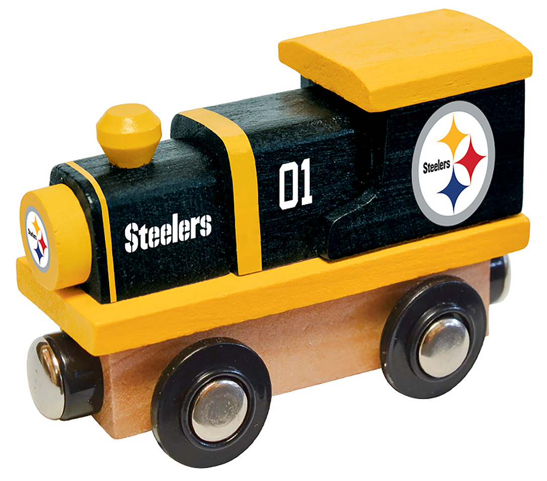 Wooden Toy Trains : Pittsburgh steelers wood train toy