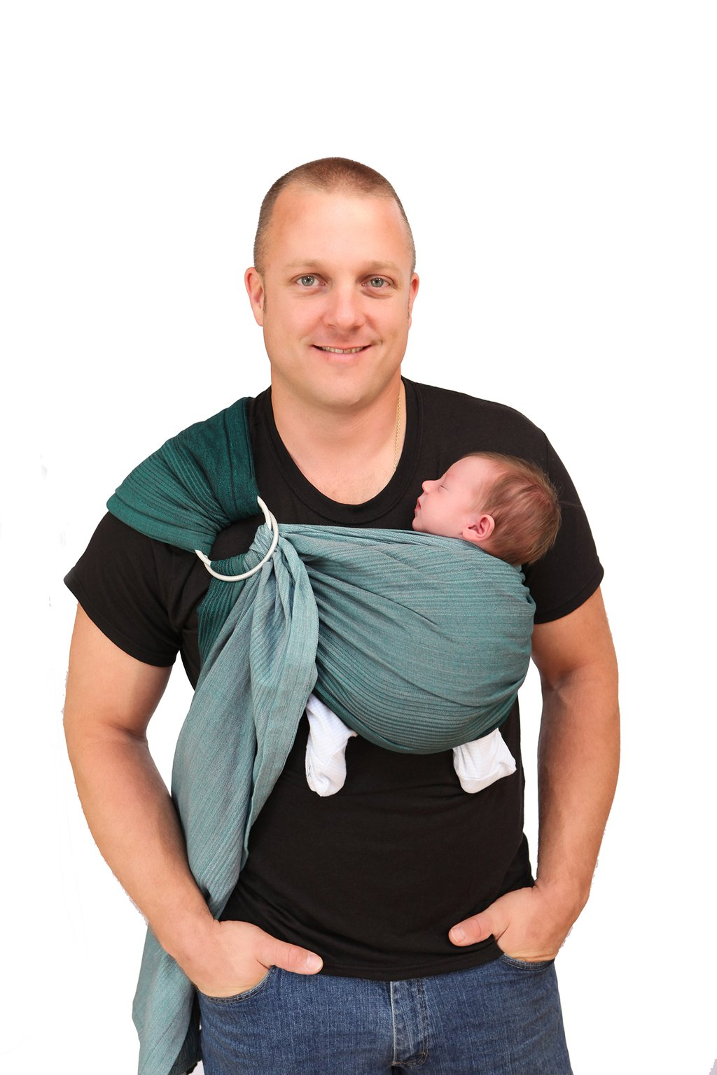 maya-wrap-baby-sling-green-ombre