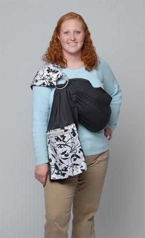 How to maya wear wrap baby sling photo