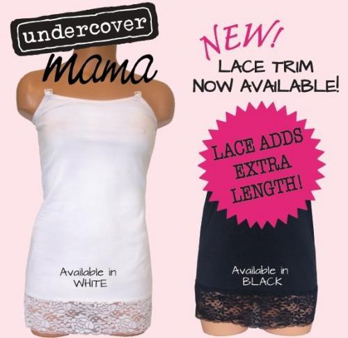 Undercover Mama Lace Trim Nursing Tank