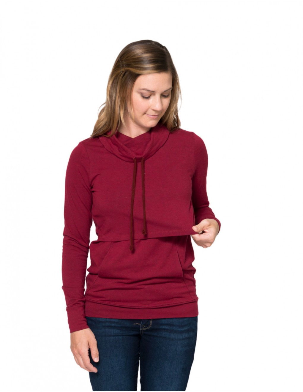 momzelle-new-turtleneck-deep-red-heather-nursing-top-opening