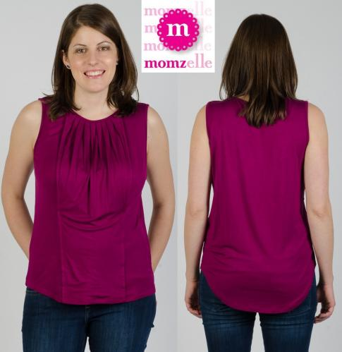 Momzelle Ashley Nursing Tank--Orchid Purple