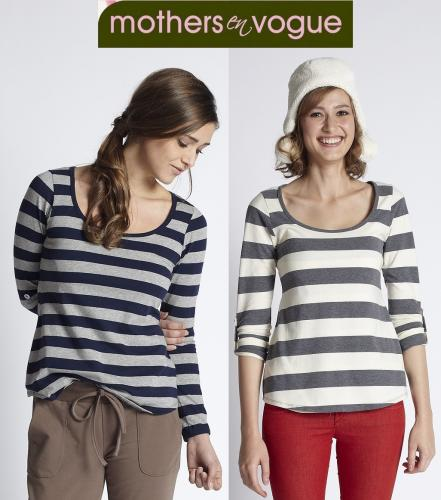 Mothers En Vogue Painter Stripe Nursing Tee