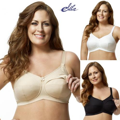 ad78e2aab Elila Cotton Softcup Nursing Bra--Nude