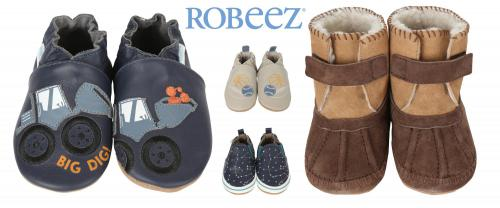 Robeez Baby Boy Soft Soles Shoes
