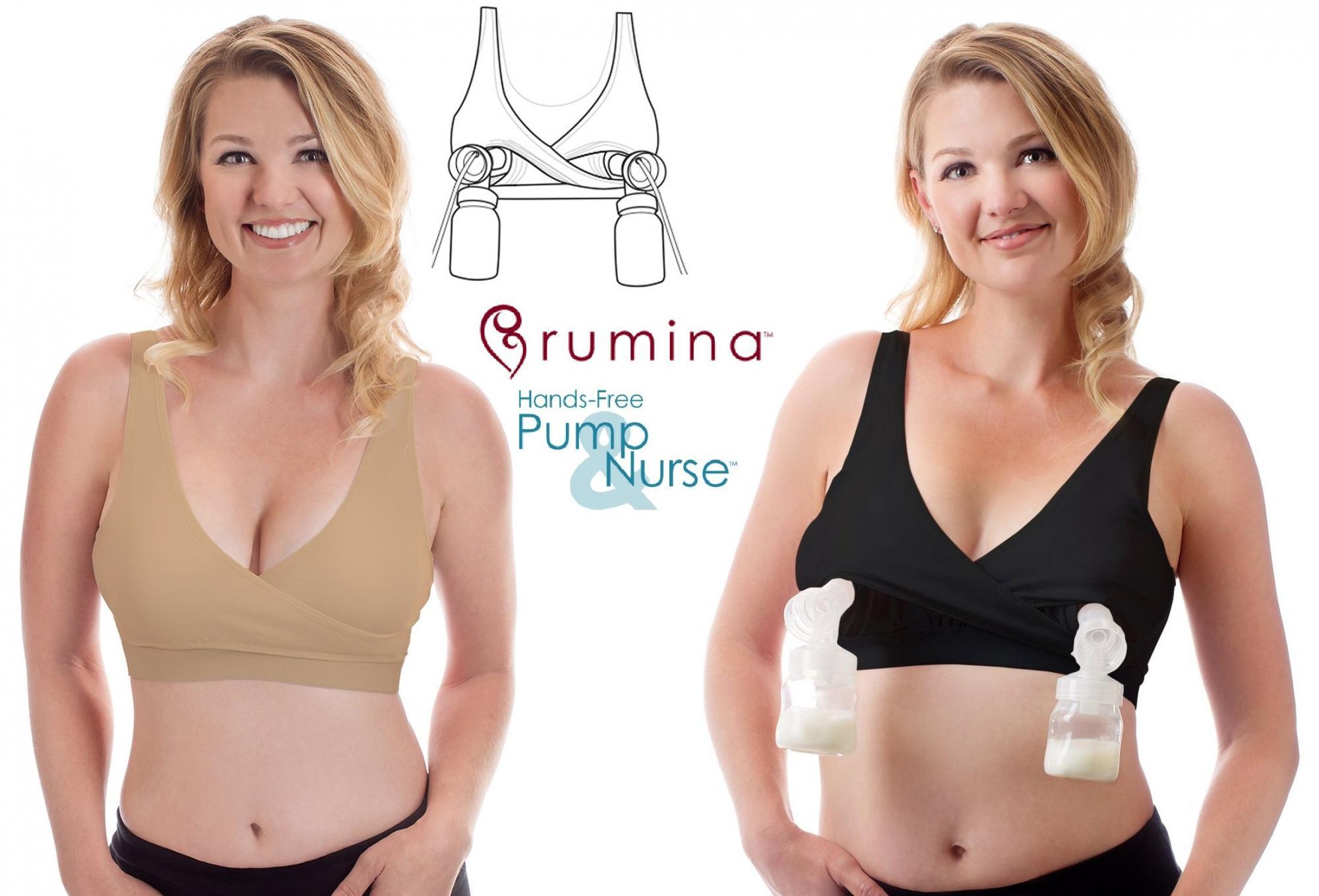 Rumina Classic Crossover Hands-Free Pumping & Nursing Bra