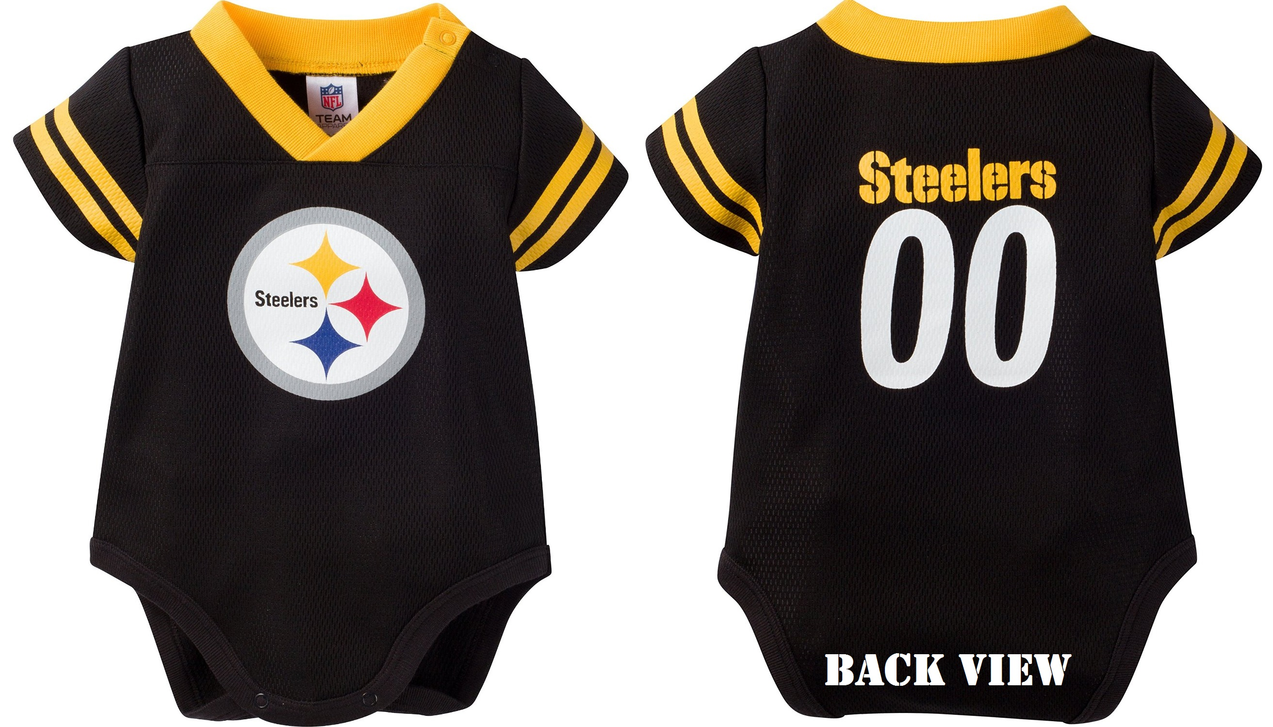 Infant Pittsburgh Steelers Black Dazzle Bodysuit