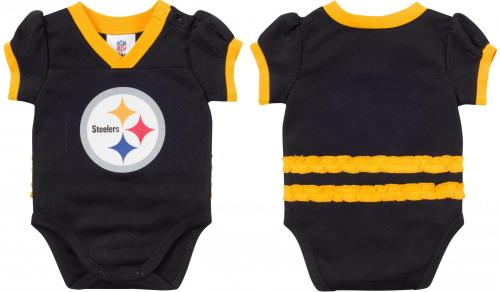 Steelers Ruffled Player Jersey Baby Bodysuit