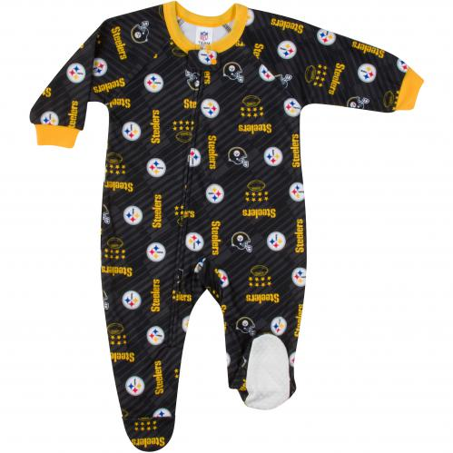Steelers Print Blanket Sleeper (3T)