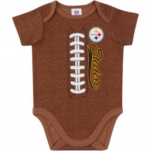 Steelers Baby Football Bodysuit