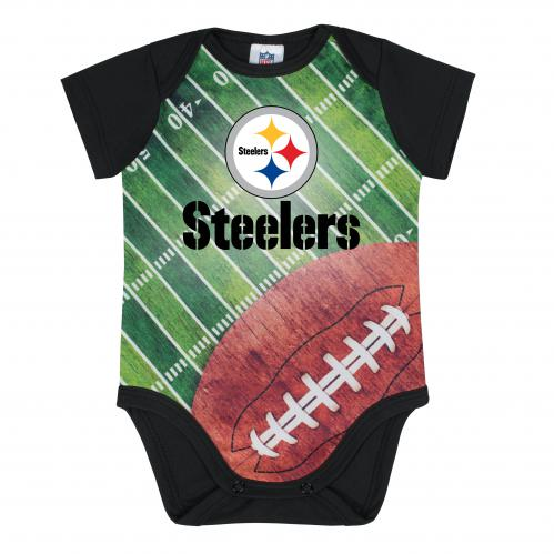 Steelers Silky Football Baby Bodysuit