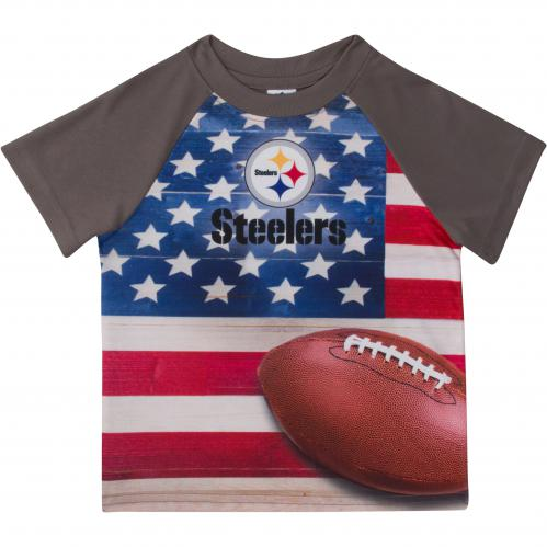 Steelers Silky Flag T-Shirt (12M, 18M, 2T, 3T & 4T)