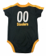 Steelers Player Jersey Baby Bodysuit--Shoulder Stripe 1